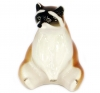 Raccoon Sitting Lomonosov Imperial Porcelain Figurine