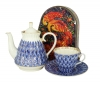 Special Offer: Forget Me Not TEAPOT with TEA CUP AND SAUCER + Free Collectors tin of Russian Tea