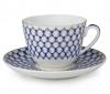 Lomonosov Imperial Porcelain Tea Cup Set Spring New Cobalt Net 7.8 oz/230ml
