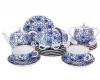 Lomonosov Imperial Porcelain Tea Set Tulip Bindweed 6/21