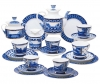 Lomonosov Imperial Porcelain Tea Set Bridges of St. Petersburg 6/20