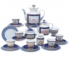 Lomonosov Imperial Porcelain Tea Set Classic of Petersburg 6/20