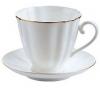 Lomonosov Imperial Porcelain Tea Set Cup and Saucer Carnation Golden Edge 6.8 oz/200 ml