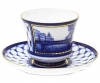 Lomonosov Imperial Porcelain Tea Set Cup and Saucer Kiss Bridge 7.4 oz/220 ml