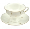 Lomonosov Imperial Bone China Porcelain Tea Set Cup and Saucer Natasha