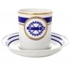 Lomonosov Imperial Porcelain Tea Set Cup and Saucer Navy Style #2 7.4 oz/220 ml
