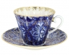 Lomonosov Imperial Porcelain Tea Set Cup and Saucer Radiant Heath Birds 7.95 oz/235ml