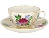 Lomonosov Imperial Porcelain Tea Set Cup and Saucer Tulip Golden Grasses 8.45 oz/250 ml