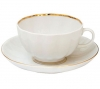Lomonosov Imperial Porcelain Tea Set Cup and Saucer Tulip Snow White 8.45 oz/250 ml