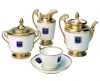 Lomonosov Imperial Porcelain Tea Set Gold Cottage 22K 6/20