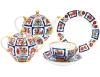 Lomonosov Imperial Porcelain Tea Set Tulip RUSSIAN LUBOK 6/20
