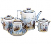Lomonosov Imperial Porcelain Tea Set Winter Fun 4/10