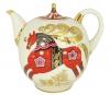 Lomonosov Imperial Porcelain Teapot Red Horse