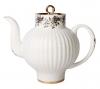 Lomonosov Imperial Porcelain Bone China Teapot Wave Tiny Branches 4 Cups 27 oz