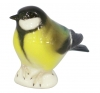 Tomtit Titmouse Black-Headed Bird Lomonosov Imperial Porcelain Figurine