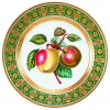 "Decorative Wall Plate Golden Apples 10.4""/265 mm Lomonosov Imperial Porcelain"
