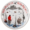 "Decorative Wall Plate Hunters 7.7""/195 mm Lomonosov Imperial Porcelain"