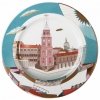 "Decorative Wall Plate Nevsky av. St.Petersburg 10.4""/265 mm Lomonosov Imperial Porcelain"