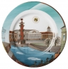 "Decorative Wall Plate Spring in Petersburg 10.4""/265 mm Lomonosov Imperial Porcelain"