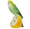 Wavy Parrot Budgerigar Green Lomonosov Imperial Porcelain Figurine