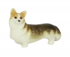 Welsh Corgi Dog Lomonosov Porcelain Figurine