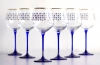 Imperial Porcelain Factory Water Wine Glass 19.3 fl.oz Set 6 pc Cobalt Net