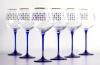 Imperial Porcelain Factory Water Wine Glass 19.3 fl.oz Set 6 pc Cobalt Net