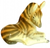 Zebra Sleeping Lomonosov Imperial Porcelain Figurine