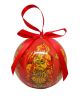 Christmas New Year Tree Decorative Ball Red Khokhloma
