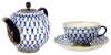 Buy Lomonosov Cobalt Net Teapot and get Tulip Cobalt Net Tea Cup for FREE!