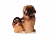 Pekingese Dog Brown Colored Lomonosov Figurine