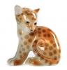 Cheetah Baby Imperial Lomonosov Porcelain Figurine
