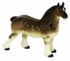 Horse Percheron Draft Chestnut Colored Lomonosov Porcelain Figurine