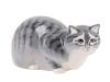 Hunting Cat Gray Lomonosov Imperial Porcelain Figurine