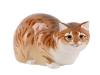 Hunting Cat Red Lomonosov Imperial Porcelain Figurine