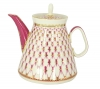 Lomonosov Imperial Porcelain Lomonosov Porcelain Teapot Red Net 16.9 oz/500 ml