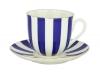 Lomonosov Porcelain Yes and No COBALT Bone China Espresso Coffee Cup and Saucer 6 oz/180 ml