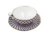 Lomonosov Bone China Tea Set Dome Cobalt Net 10 oz/300 ml