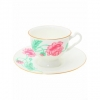 Bone China Tea Set Olimpya Peony 8.12 fl.oz/240 ml 2pc