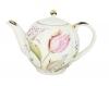 Lomonosov Imperial Porcelain Porcelain Teapot Tulip Pink Tulips 20 oz/600 ml