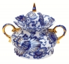Lomonosov Imperial Porcelaine Sugar Bowl Singing Garden 20 fl.oz/600 ml