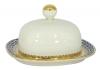Lomonosov Porcelain Porcelain Butter Holder Dish Rectangular Cobalt Net