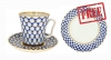 Special Offer: Buy Porcelain Mug Cobalt Net 12.2 fl.oz/360 ml and get FREE Matching Dessert Plate