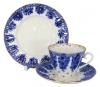 Lomonosov Imperial Porcelain Tea Set 3pc Radiant Basket 7.95 oz/235 ml