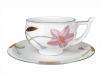 Lomonosov Imperial Porcelain Tea Set Cup and Saucer Kostroma Laurencia 10 oz/300 ml