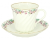 Lomonosov  Bone China Twist Tea Cup and Saucer Little Garden 5.24 fl.oz/155ml