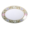 """Imperial Porcelain Porcelain Oval Platter Jade Background 15.7""""/400 mm"""