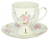 Lomonosov Imperial Porcelain Bone China Coffee Set Cup and Saucer Galant 5.41 oz/160 ml