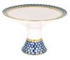 "Lomonosov Imperial Porcelain Candy Vase Cobalt Net 7.3"" D"