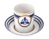 Imperial Porcelain Porcelain Tea Cup with Saucer Navy Style #4 7.4 oz/220 ml